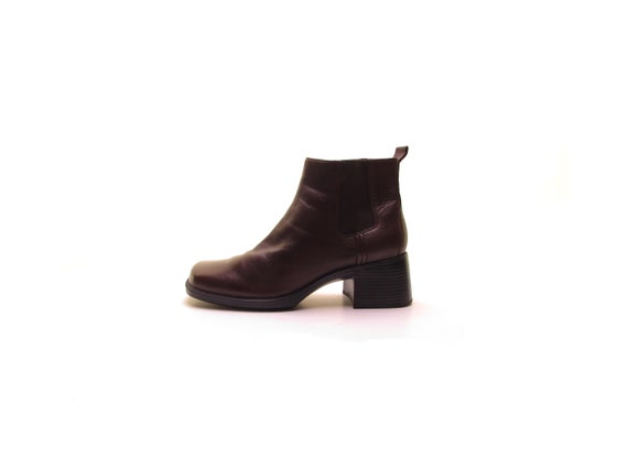 chelsea boots leather boots rubber soles brown lea