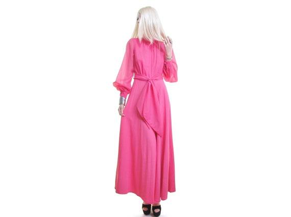 pink jumpsuit 70s jumpsuit coral pink sheer poet s
