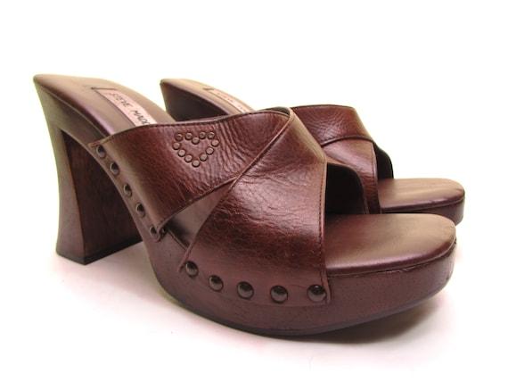 Steve Madden Platform sandals wood CHUNKY HEEL sho