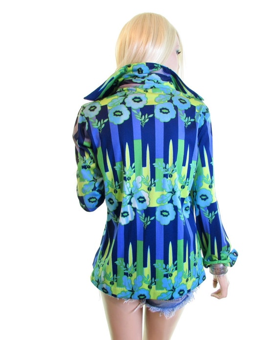 70s psychedelic shirt trippy shirt 70s disco shirt
