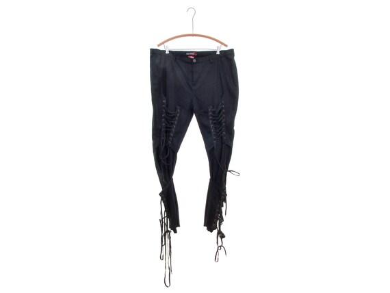 PELLE PELLE lace up pants cyberpunk cybergoth avan