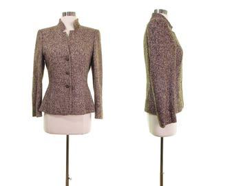 ESCADA blazer tweed blazer tweed jacket designer clothing Escada wool blazer Escada jacket Escada blazer designer blazer 34 small