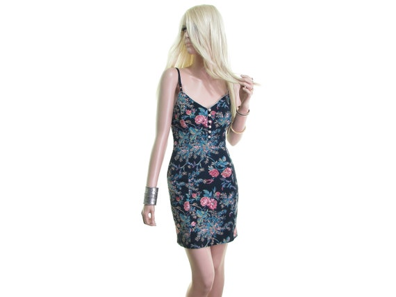 dress mini dress Betsey dress dress slip flowers floral dress sexy Johnson designer with bodycon dress dress black 5pvqwp0