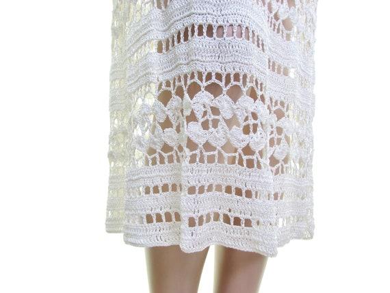 sheer crochet dress cream white crochet wedding d… - image 6