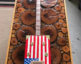 4 String A/E Cigar Box Guitar Just in Time for the 4th of July!