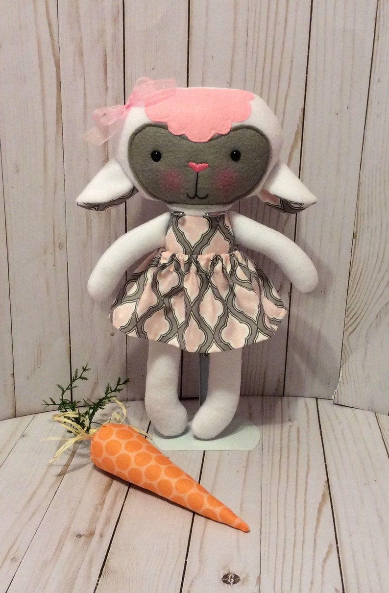 Unique gift for girl Removable Clothing Stuffed toy with Clothing Handmade Animal Rabbit Doll 14.5 in Easter Bunny