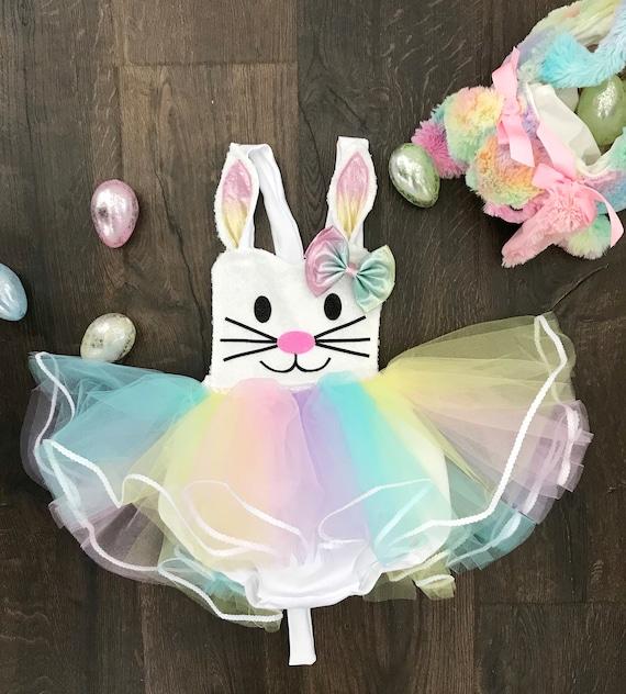 Easter or First Birthday Unicorn Pastel Multi-Colored TuTu Romper