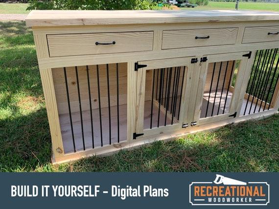 Digital Plans Wooden Dog Crate, Dog Crate Wooden Furniture