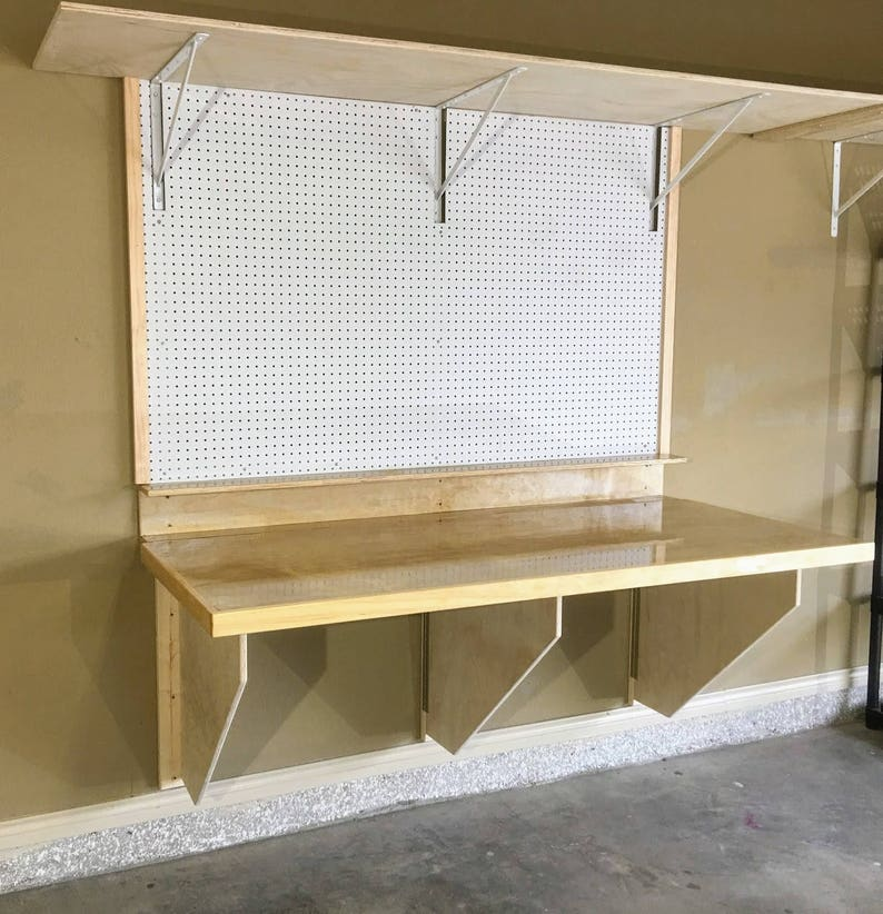Diy Folding Workbench Plans Easy To Follow Plans To Build A Etsy