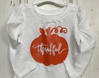 Thankful Pumpkin Thanksgiving Infant One-Piece Body Suit  or T-Shirt