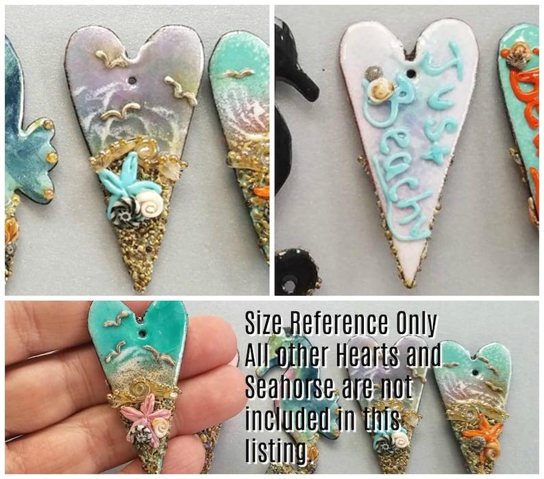 Beachy Heart Focal Enameled Copper Just Beachy in Violet Crackle by Sabrina Koebel of SabrinaDesign