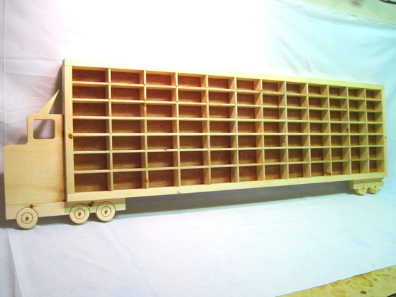 Hot Wheels Boys Wood Truck Display Case Toy Wall | Etsy