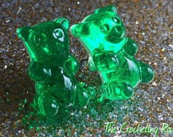Gummy bear earring studs ~medium