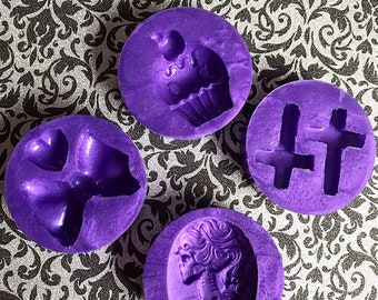 Small Silicone Molds New Unused Platinum Silicone Purple