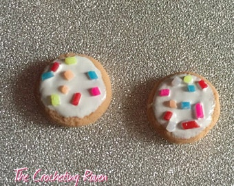 Sugar Cookie Stud Earrings