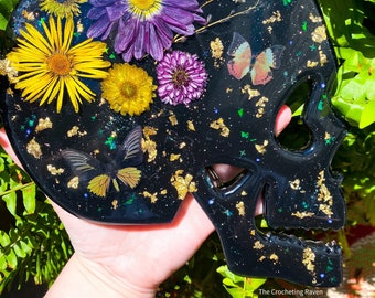 Floral Skull Wall Decor Petri Art