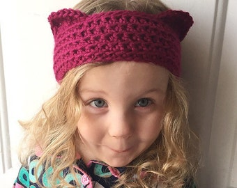 Earwarmer Crochet Cat Ears Simple