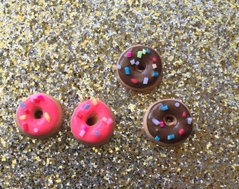 Donut Earrings Donut stud earrings Donut Earrings Sprinkle Donuts Donut Jewelry ~small
