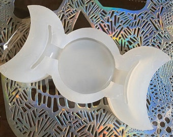 PRE ORDER Triple Moon Trinket dish mold silicone mold