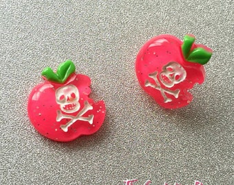 Poison Apple Stud Earrings