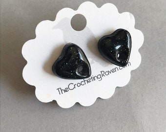 Planchette Earrings Pastel Goth Earrings Resin Earrings Black Earrings
