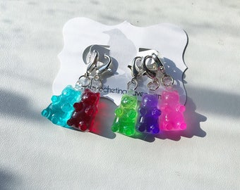 Gummy Bear Charms Gummy Bear Stitch Marker Crochet Stitch Marker set of (5)