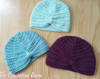 Crochet Turban Hat Baby Hat
