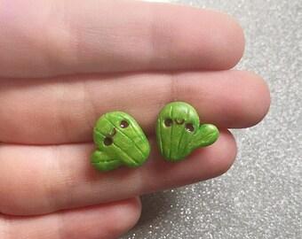 Cactus Earrings Cacuts Stud Earrings Cacti Jewelry Polymer Clay Earrings