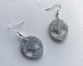 Alien Earrings Holographic Earrings Holographic Alien Jewelry 90s Jewelry Holo Alien