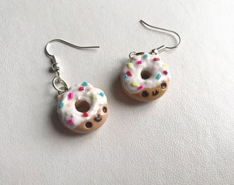 Donut Earrings Doughnut Earrings Polymer Clay Earrings Dangle Donut Earrings