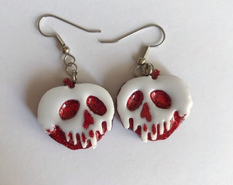 Poison Apple Earrings Poison Stud Earrings Resin Earrings Apple Earrings Poisoned