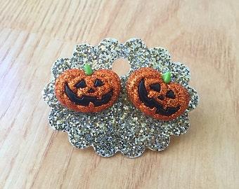 Pumpkin Halloween Stud Earrings