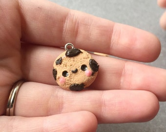 Chocolate Chip Cookie Charm Polymer Clay Charm