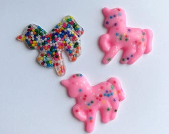 Unicorn Brooch Unicorn Necklace Unicorns Sprinkles Animal Cookie Brooch