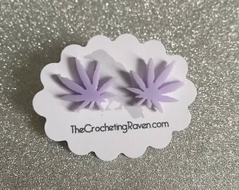 Pot Leaf Earrings Pot Leaf Jewelry Stud Earrings Marijuana