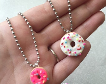 Donut Necklace Donut Jewelry Doughnut Pendant Necklace Doughnut Necklace
