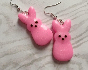 Easter Earrings Bunny Earrings Easter Jewelry Bunny Jewelry Rabbit Earrings