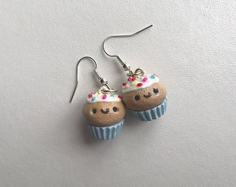 Cupcake Earrings Cupcake Jewelry Polymer Clay Earrings Polymer Clay Cupcake Kawaii Cupcake