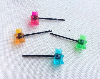 Gummy Bear Bobby Pin Hair Clips Gummy Bear Jewelry