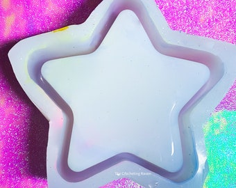 Giant Star Trinket Dish Mold Silicone Mold Resin Mold MADE TO ORDER