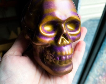 Striped Resin Skull