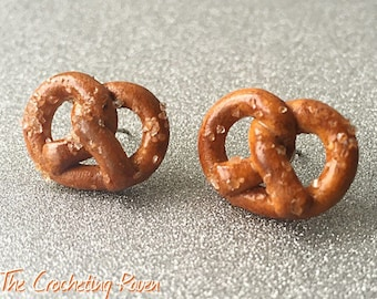 Large Pretzel Stud Earrings
