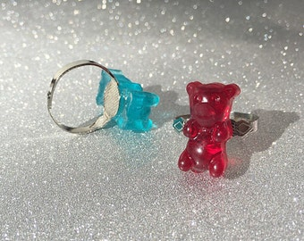 Gummy Bear Ring Gummy Bear Jewelry Resin Gummy Bear Gummy Bears Candy Jewelry Candy Ring