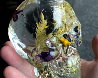 Floral Resin Skull