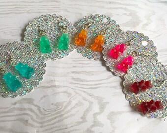 Gummy Bear Earrings Gummy Bear Jewelry Gummy Bears