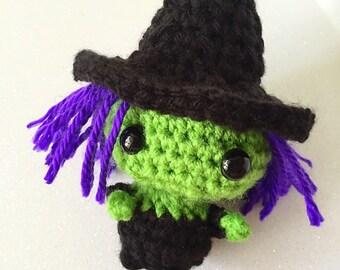 Crochet Halloween Witch Amigurumi Doll kawaii