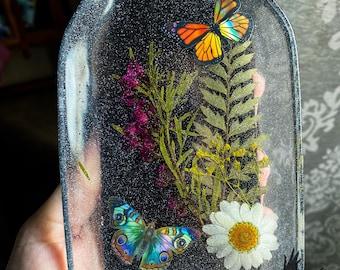 Mason Jar Trinket Dish Butterfly Resin Trinket Tray