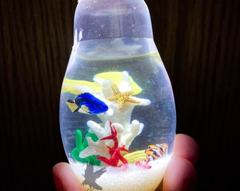 Light up Coral Reef Fish Bulb Thin Vintage bulb Resin Light Bulb