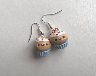 Cupcake Earrings Cupcake Jewelry Polymer Clay Earrings Polymer Clay Cupcake Kawaii Cupcake