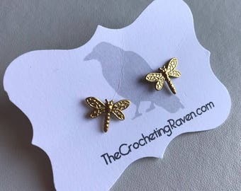 Dragonfly Earrings Dragonfly Jewelry Dragonflies Stud Earrings